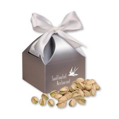 Jumbo California Pistachios in Silver Gift Box