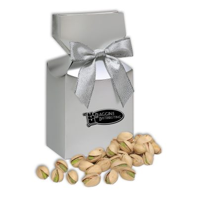 Jumbo California Pistachios in Silver Premium Delights Gift Box