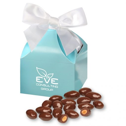 Milk Chocolate Almonds in Robin's Egg Blue Gift Box