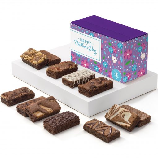 Mother's Day Sprite Dozen Brownies (Purple Treasure Bow w/Flower Band)