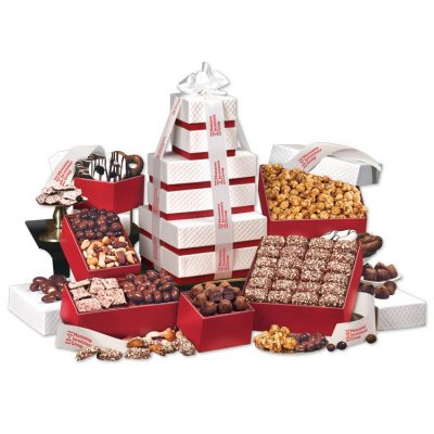 """Park Avenue"" Tower of Chocolate in Red"