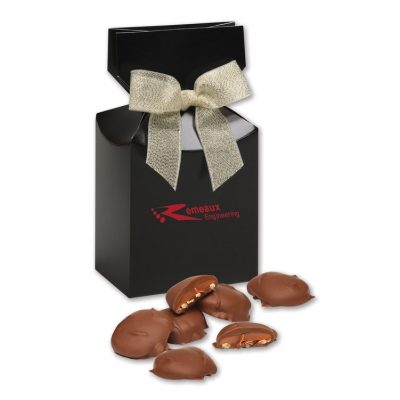 Pecan Turtles in Black Gift Box