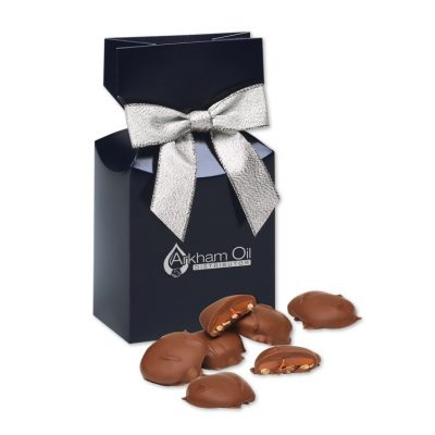 Pecan Turtles in Navy Gift Box