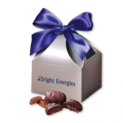 Pecan Turtles in Silver Gift Box