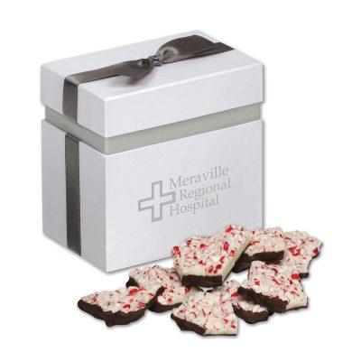 Peppermint Bark in Elegant Treats Gift Box