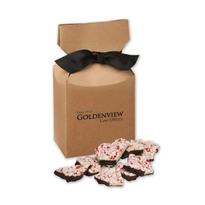 Peppermint Bark in Kraft Gift Box