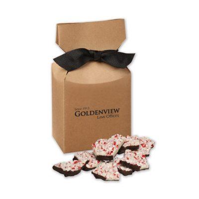 Peppermint Bark in Kraft Gift Box