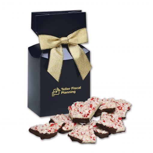 Peppermint Bark in Navy Premium Delights Gift Box