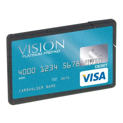 Plastic Mint Card Flat