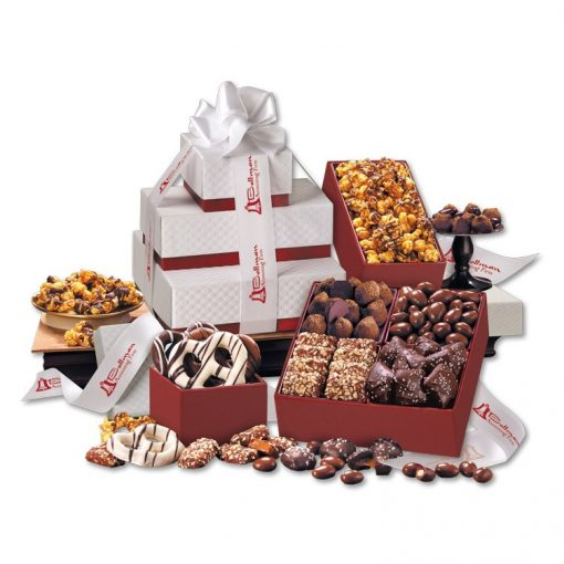 Red & White Pillow Top Tower of Sweets