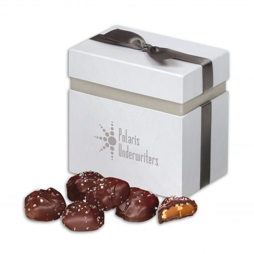Sea Salt Almond Turtles in Elegant Treats Gift Box