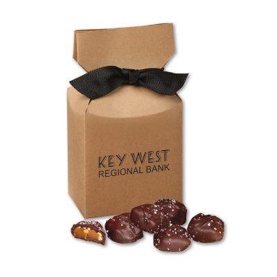 Sea Salt Almond Turtles in Kraft Premium Delights Gift Box