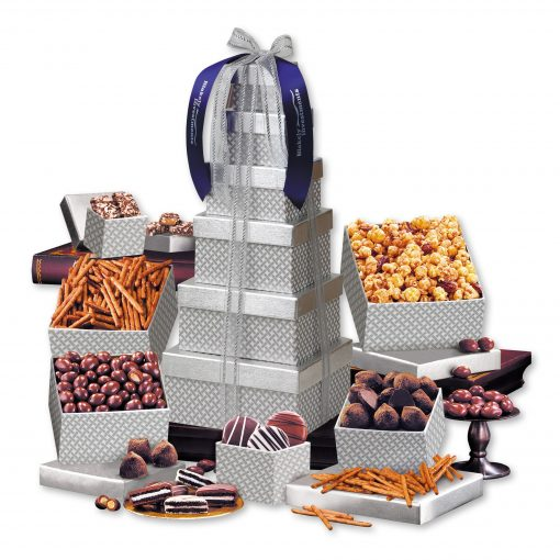 Shimmering Silver Delights Tower