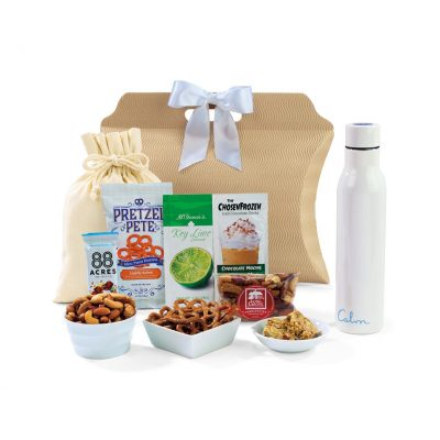Sidney Sip & Snack Gift Tote White
