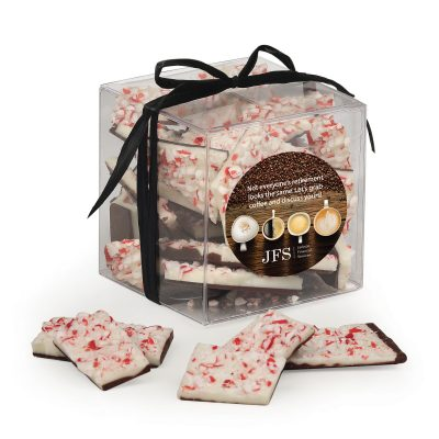 Stylish Acetate Cube with Peppermint Bark