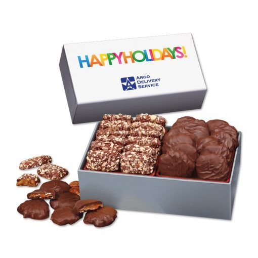 Toffee & Turtles in Gift Box with Happy Holidays Sleeve