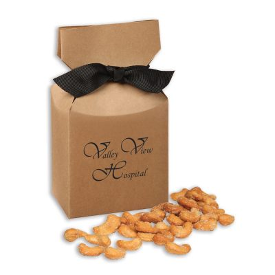 Honey Roasted Cashews in Kraft Gift Box