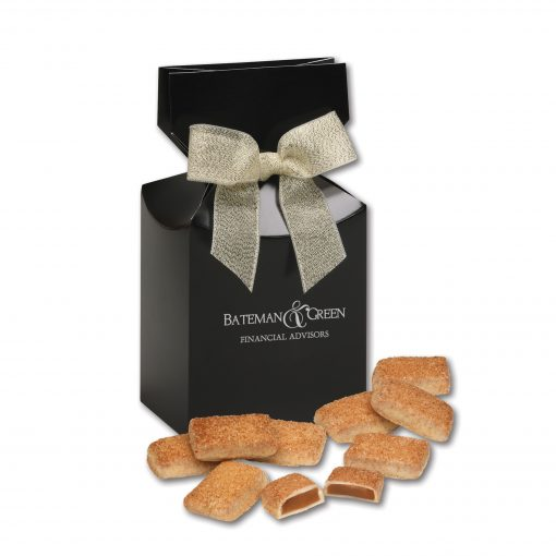 Cinnamon Churro Toffee in Black Premium Delights Gift Box