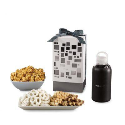 Pure Mondrian Gourmet Gift Box - Black-White and Silver