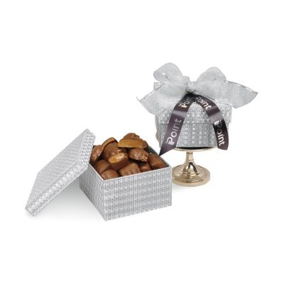 Sparkling Almond Butter Toffee Gift Box - Silver Shimmer Pattern