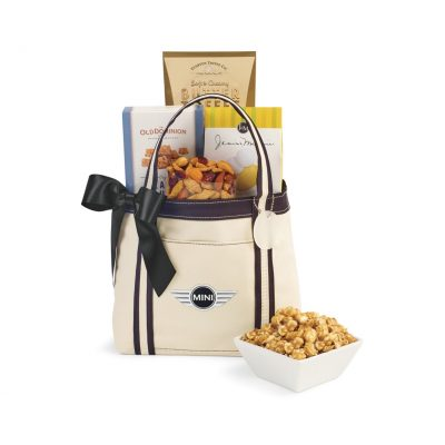WFH Snack Tote - Natural-Black
