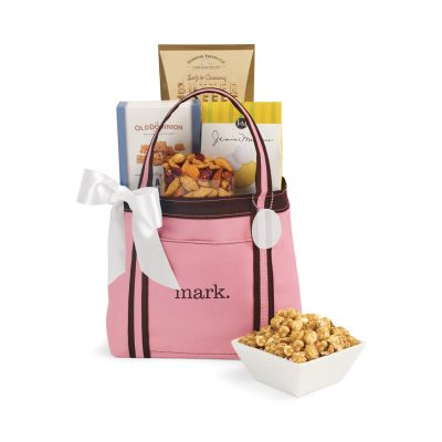 WFH Snack Tote - Pink-Brown