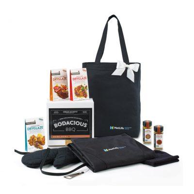 Bodacious BBQ Gift Set - Black-Black