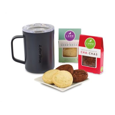 Corkcicle® Sip & Indulge Cookie Gift Set - Black