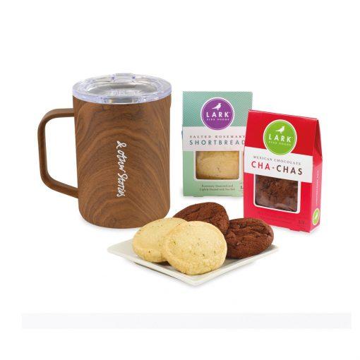 Corkcicle® Sip & Indulge Cookie Gift Set - Walnut