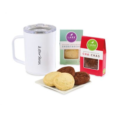 Corkcicle® Sip & Indulge Cookie Gift Set - White
