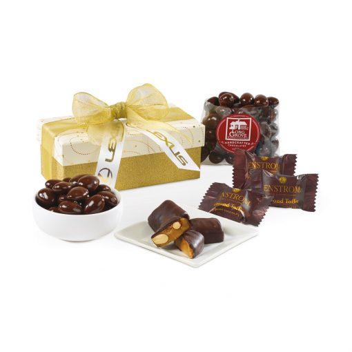 Sparkling Dark Chocolate Gift Box - Sparkling White and Gold