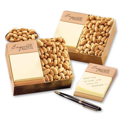 Beech Post-it® Note Holder with Choice Virginia Peanuts