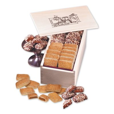 English Butter Toffee & Cinnamon Churro Toffee in Wooden Collector's Box