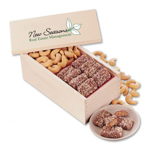 English Butter Toffee & Extra Fancy Jumbo Cashews with Full Color Imprint