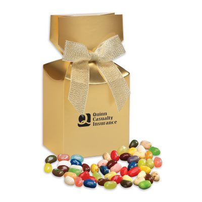 Jelly Belly® Jelly Beans in Gold Premium Delights Gift Box