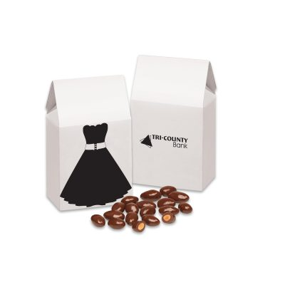 Little Black Dress Gift Box with Chocolate Covered Almonds