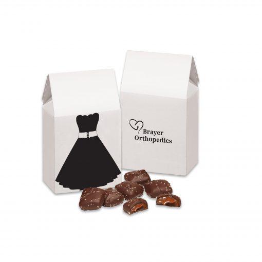 Little Black Dress Gift Box with Chocolate Sea Salt Caramels
