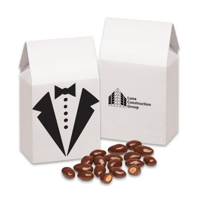 Tuxedo Gift Box with Chocolate Covered Almonds