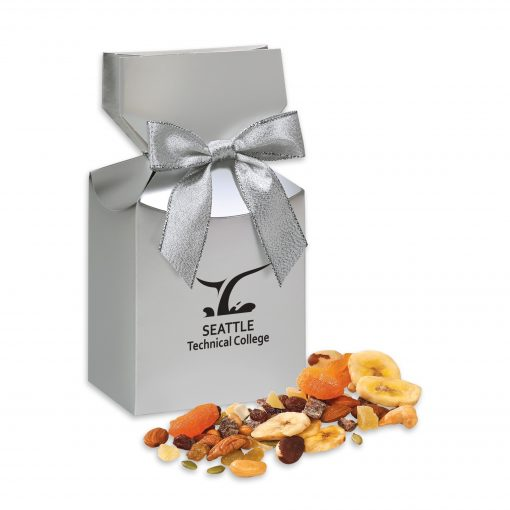 Western Trail Mix in Silver Premium Delights Gift Box