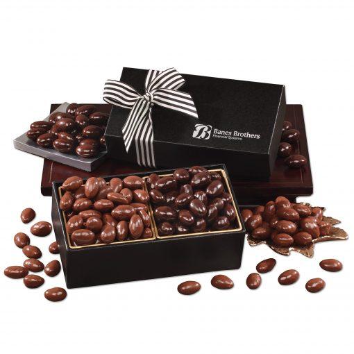 Chocolate Splendor with Milk & Dark Chocolate Almonds