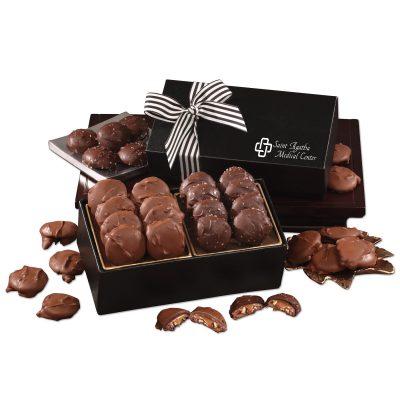 Chocolate Splendor with Pecan Turtles & Sea Salt Almond Turtles