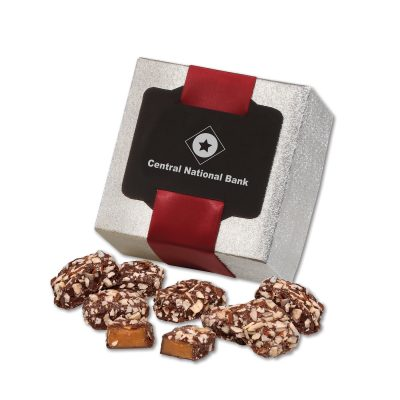 English Butter Toffee in Silver Gift Box