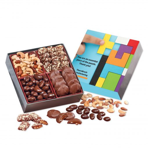 Full Color Gift Box with Gourmet Treats