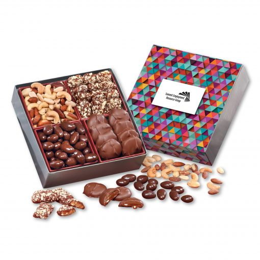 Gourmet Holiday Gift Box with Triangles Sleeve