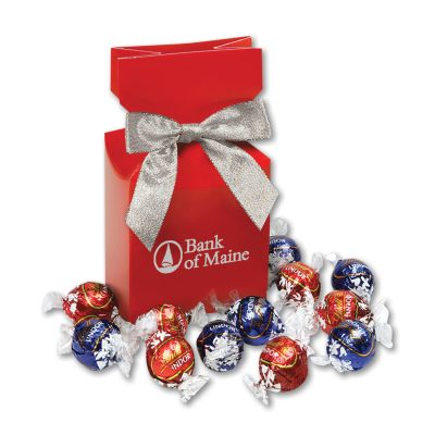 Lindt-Lindor Chocolate Truffles in Red Premium Delights Gift Box