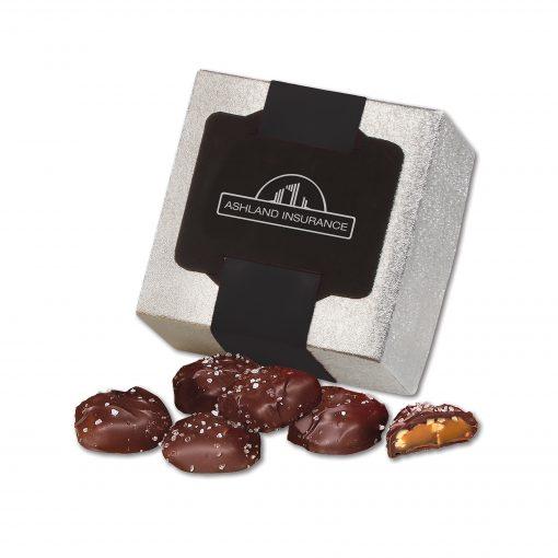 Sea Salt Almond Turtles in Silver Gift Box