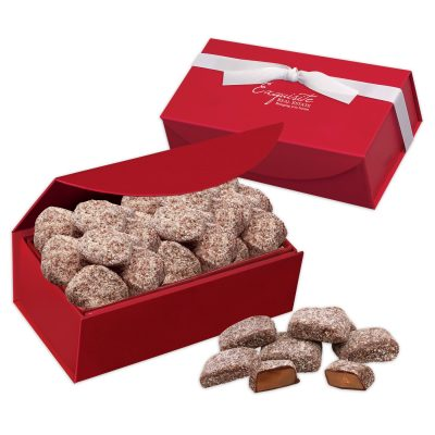 Butter Almond Toffee in Red Magnetic Closure Box