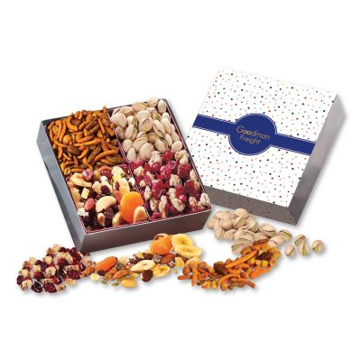 Gift Box with Gourmet Treats with Bubbles Sleeve