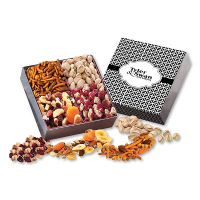 Gift Box with Gourmet Treats with Weave Sleeve