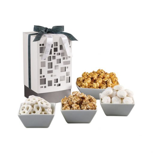 Make Their Day Gourmet Gift Box - White and Silver